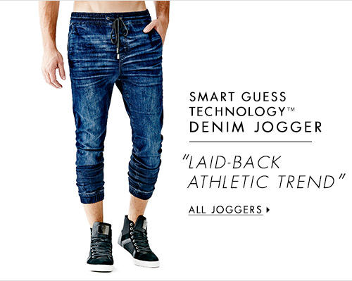Men's SMART GUESS TECHNOLOGY™ DENIM JOGGER