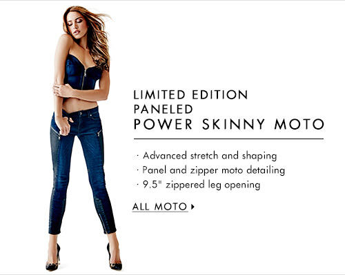 Women's Limited Edition Paneled Power Skinny Moto Denim