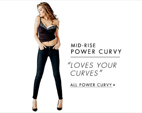 Women's Mid-Rise Power Curvy Denim