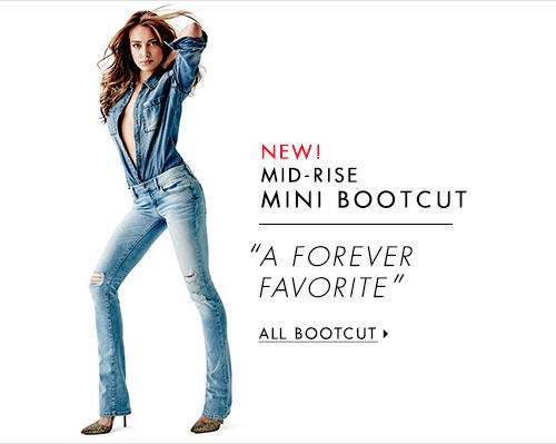 Women's Mid-Rise Mini Bootcut Denim