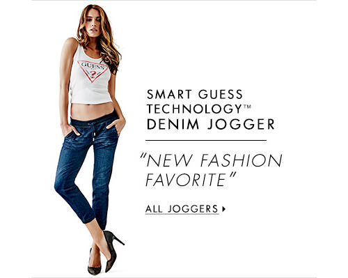 Women's SMART GUESS TECHNOLOGY™ DENIM JOGGER