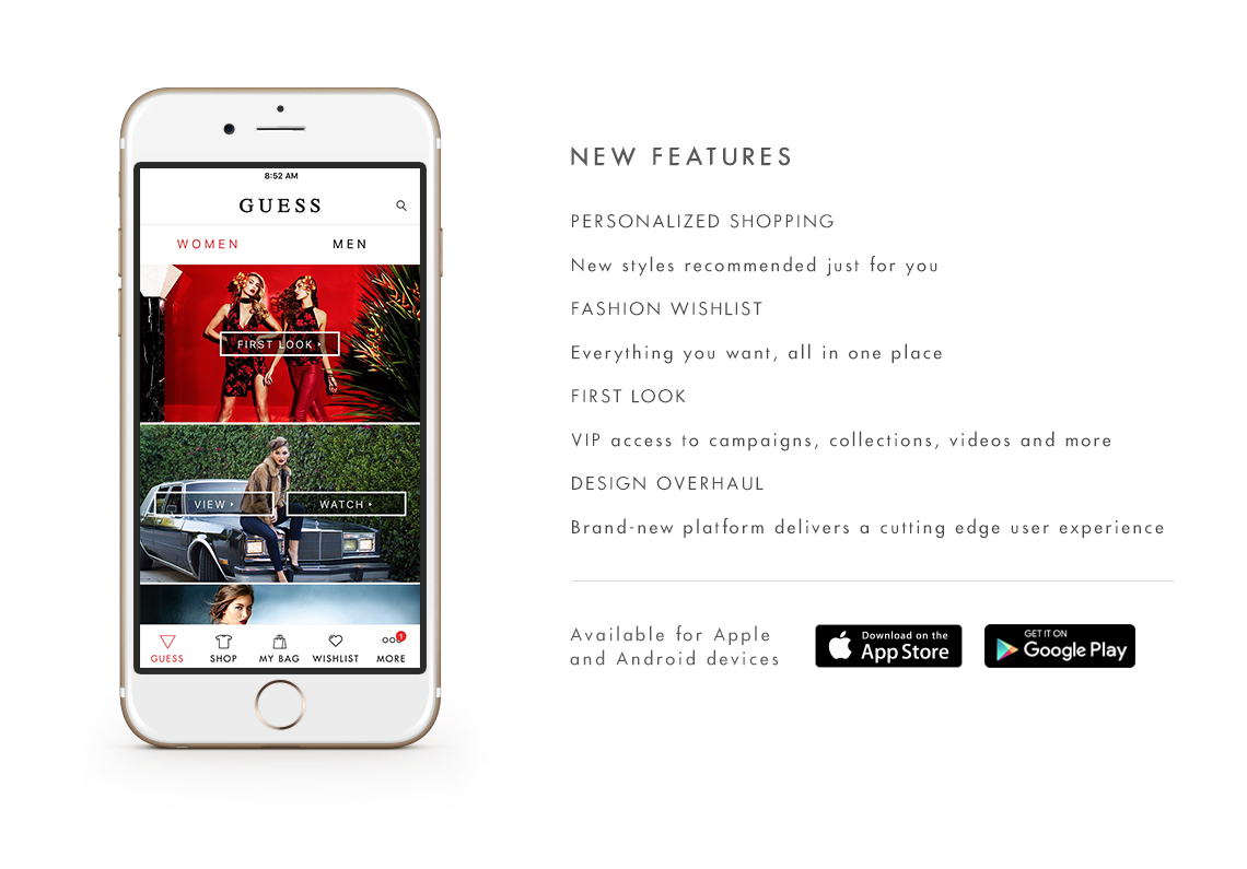 Just Released: The New GUESS APP