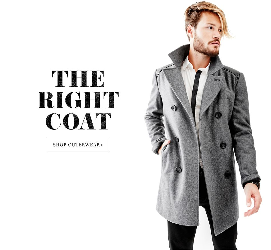 THE RIGHT COAT - SHOP OUTERWEAR ▶