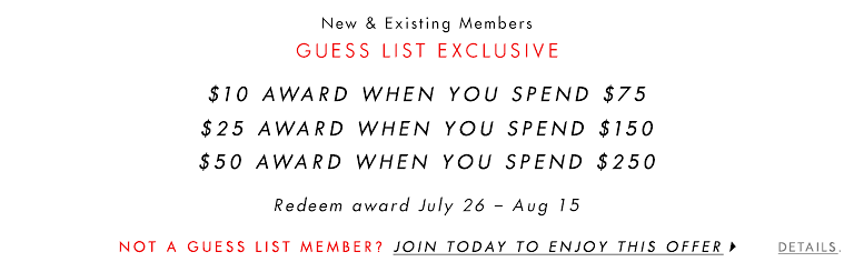 GUESS LIST EXCLUSIVE