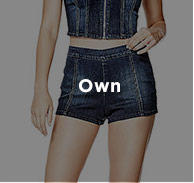HIGH-RISE SIDE-ZIPPER DENIM SHORTS