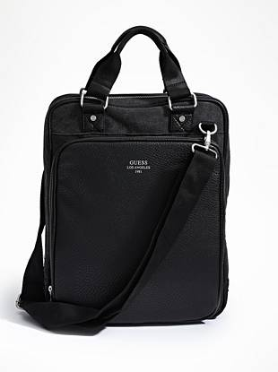 A modern take on the classic messenger bag, this vertically-designed style is ideal for the guy on the go. The roomy interior fits everything you need, from your laptop and notebooks to your cell phone and tablet—you'll wonder how you ever lived without it.