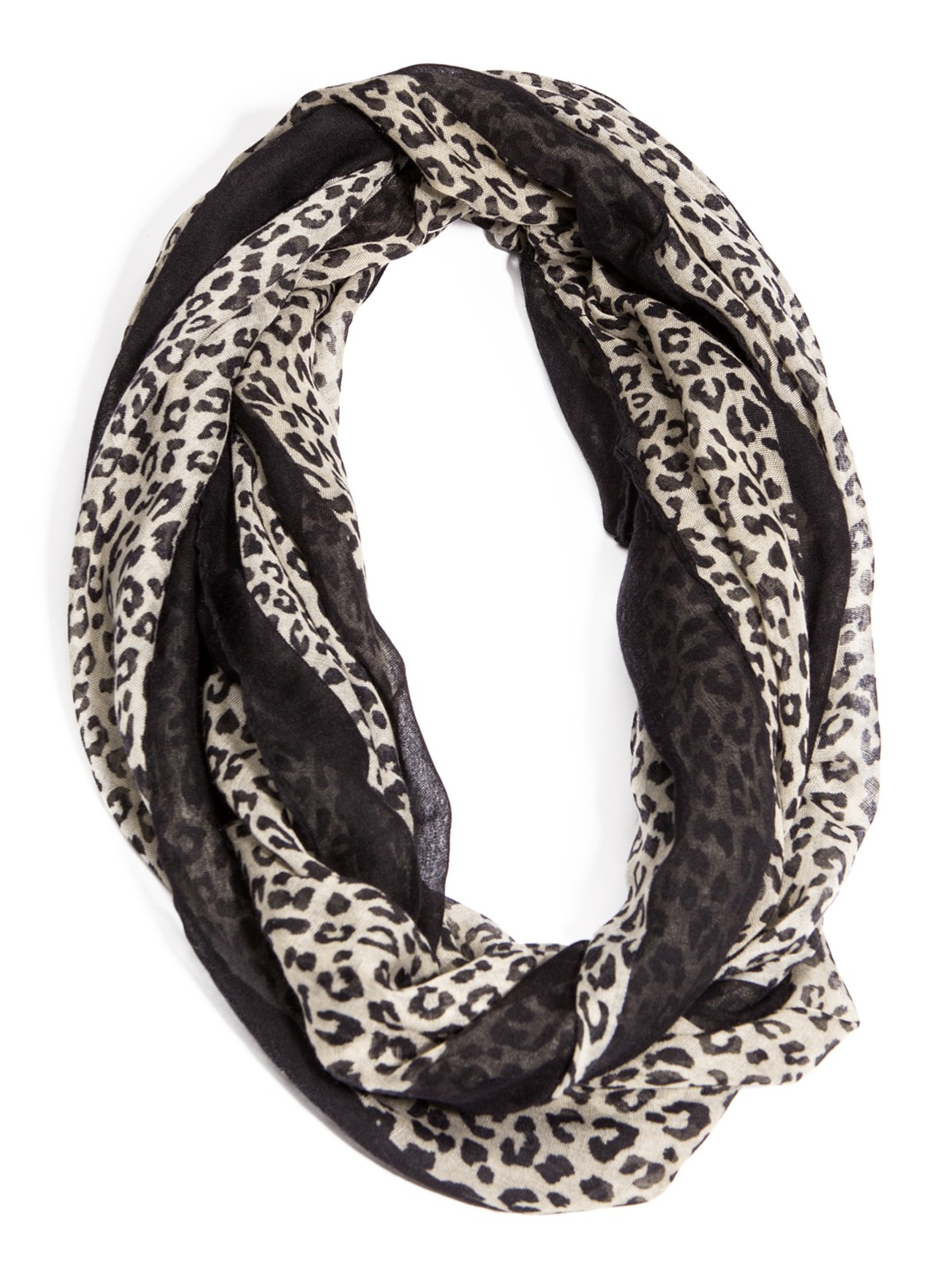 guess cheetah print infinity scarf ebay