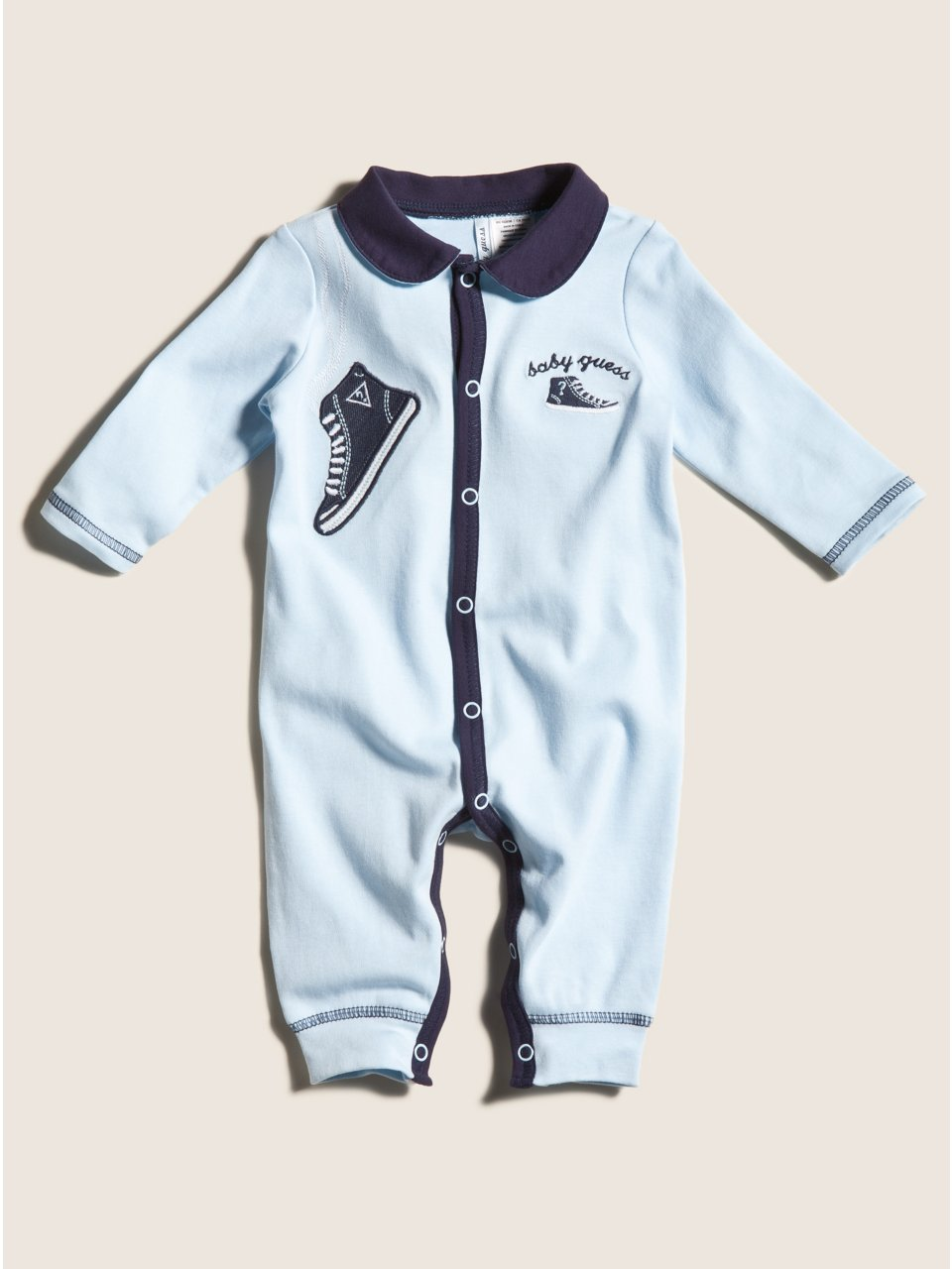 GUESS Kids Boys Sneaker Coverall, BLUE (3/6M)