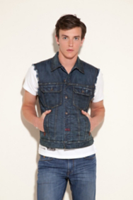 Crater Denim Vest