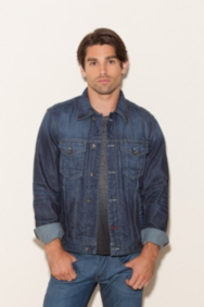 Denim Jacket in Dark Used Wash