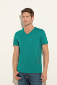 Artisan Short-Sleeve Solid V-Neck Tee