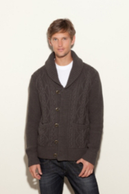 Dawson Long-Sleeve Sweater with Shawl Collar