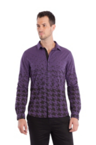 Long-Sleeve Houndstooth Shirt