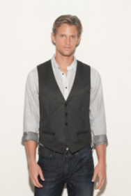 Graphite Coated-Twill Vest