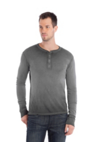 Long-Sleeve Dip-Dye Henley