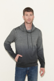 Claxton Funnel-Neck Sweatshirt with Zippers