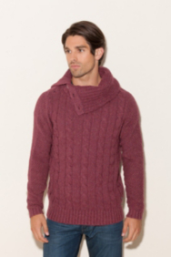 Radley Funnel-Neck Cabled Sweater