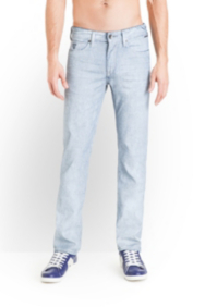 Lincoln Jeans in Humid Wash Optic White, 32 Inseam