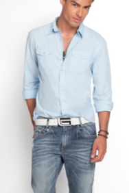 Logan Long-Sleeve Classic Two-Pocket Shirt