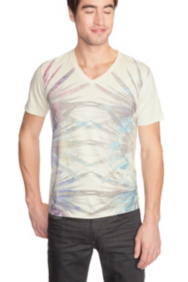 Digital Ikat V-Neck Tee
