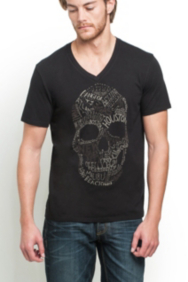 Type of Skull Basic V-Neck Tee