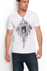 Iron Mirror V-neck Tee