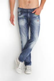The Festival Collection - Alameda Jeans in Wheeler Wash, 32 Inseam