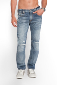 Alameda Destroyed Jeans in Adversary Wash, 32 Inseam