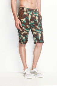 Safari Camo-Printed Cargo Shorts