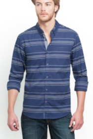 Long-Sleeve Diamond Stripe Shirt