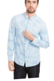 Dillon Slim-Fit Shirt with Inbloom Collage Print