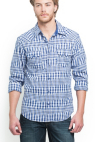 Gabriel Checked Button-Down Shirt