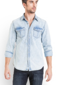 Clifton Long-Sleeve Denim Shirt