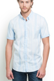 Short-Sleeve Watermark Striped Shirt