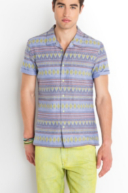The Festival Collection – Short-Sleeve Desert-Print Shirt