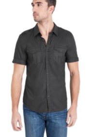 Dillon Short-Sleeve Pigment-Washed Shirt