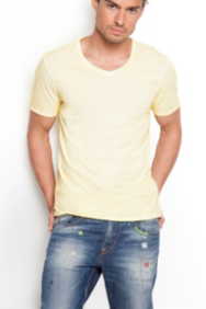 Gunnar V-Neck Washed Tee