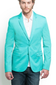 Electric Sateen Blazer