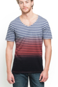 Bentley Striped V-Neck Tee