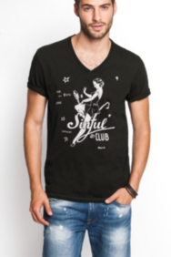 Sinful Club V-Neck Tee