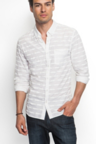 Dillon Slim-Fit Tonal-Striped Shirt