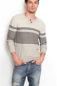 Dawson Nautical-Stripe Henley