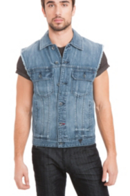 Denim Vest in Bengal Wash
