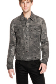 Camo-Printed Denim Jacket