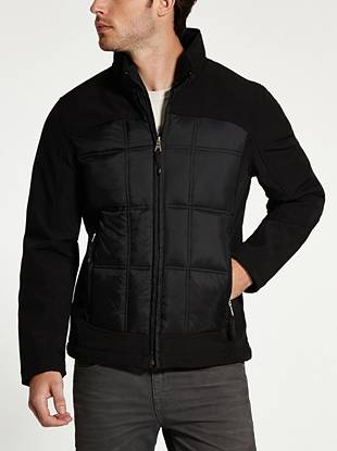A classic cut and modern mixed-material design make this puffer jacket ideal for the cooler temperatures to come.