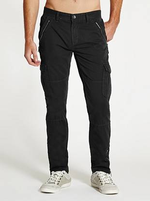 A modern take on classic cargo style, these laid-back pants are made for casual days and nights. Rugged zippers, a soft, lightweight feel and modern slim fit give them a competitive edge for your warm-weather looks.