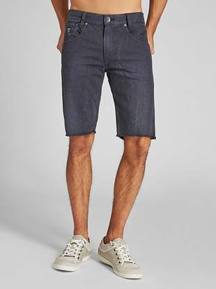 Made with medium-weight denim, these shorts get dyed and washed to easy colors that are ideal for summer. This pair is cut with a slim fit and frayed hem and has an ultra-soft finish.