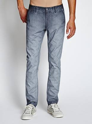 Modern slim-tapered chinos with an allover faded washed effect—this is your new casual stay-sharp pair.