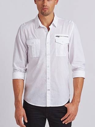 A go-to for evenings out, weekends and everything in between, this slim-fit shirt with zipper detail is more than your average button-down.