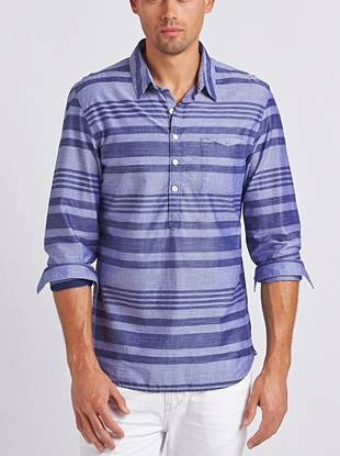 A regular fit, breathable fabric and easy popover design make this shirt a must for the warm months ahead.